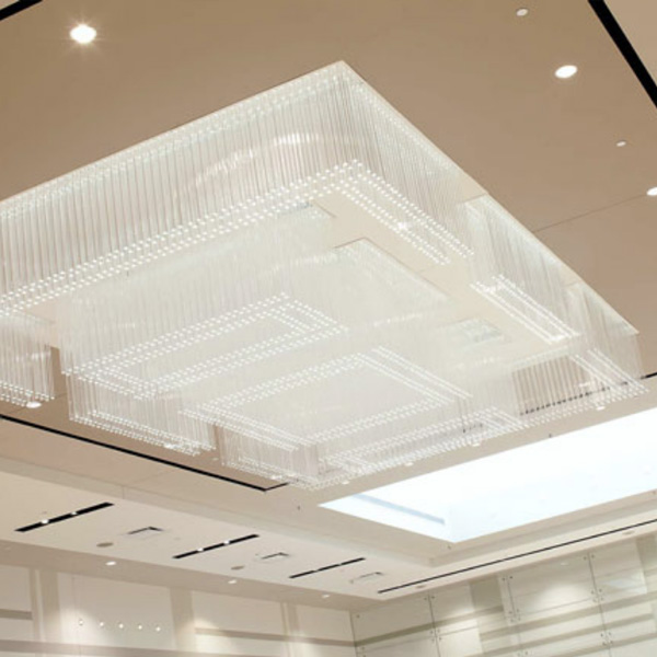 Chandelier – Square Acrylic Bar Stock, Material: Acrylic